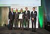 "Nominierung in der Kategorie ""Forschung und Innovation"": Micro-SolarInverter; FH-JOANNEUM / University of Applied Sciences, Institute Electronic Engineering. v.l.n.r.: Technologieminister Alois Stöger, o. univ.Prof. DI Dr. Karl P. Pfeiffer, Rektor FH-JOANNEUM, FH-Prof. Dipl.-Ing. Dr. Hubert Berger, FH-JOANNEUM, Mag. Dr. Günther Riegler, FH-JOANNEUM, Msc. Gerald Weis, FH-JOANNEUM (Foto: Stefan Csáky)"