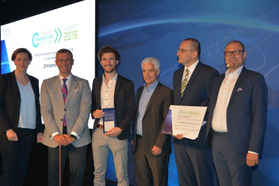 "Mission Innovation Austria Award 2019 für das Siegerprojekt in der Kategorie ""Entrepreneur"