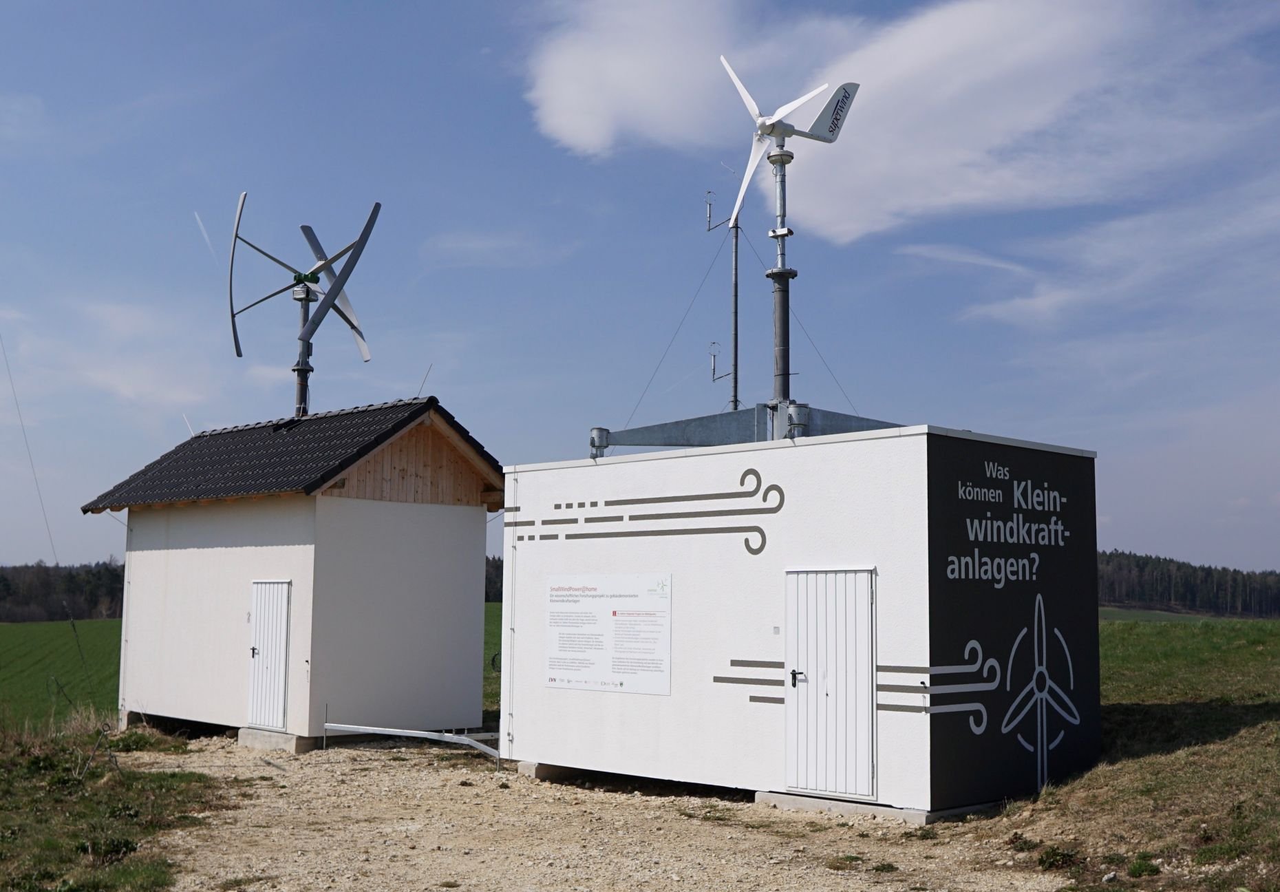 Measurement and testing infrastructure for building mounted Small Wind Turbines at the Energy Research Park Lichtenegg